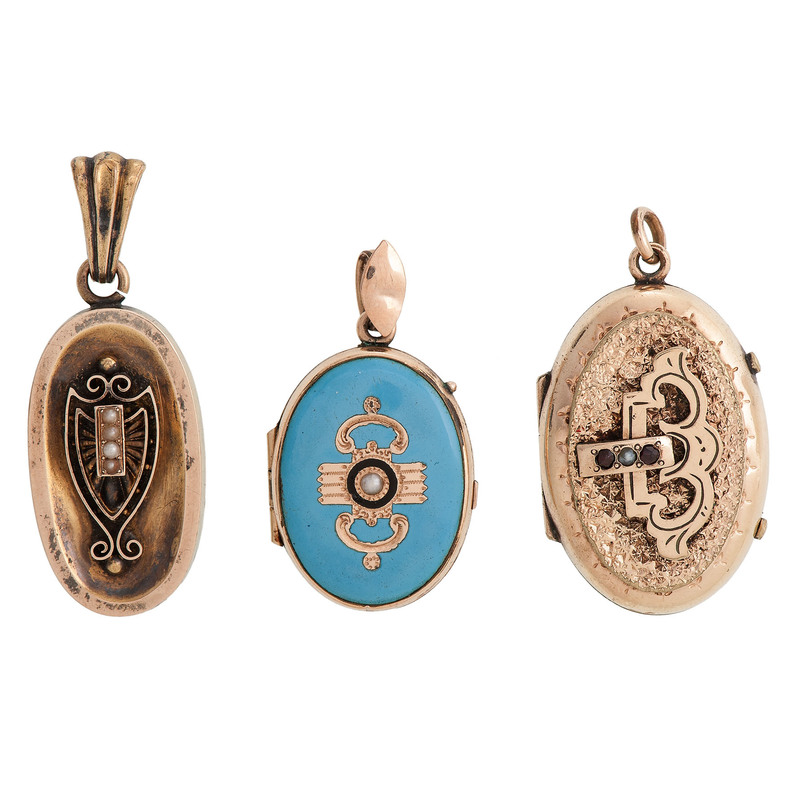 Gold Filled Victorian Lockets and Pendant