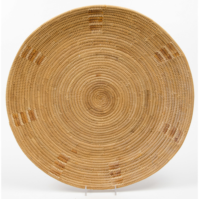 Central California Basketry Tray, From an Old Nebraska Collection