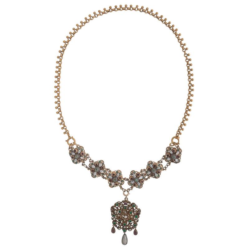 Gilt Austro Hungarian Convertible Necklace