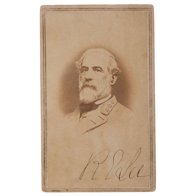 Robert E. Lee, CDV Signed Twice