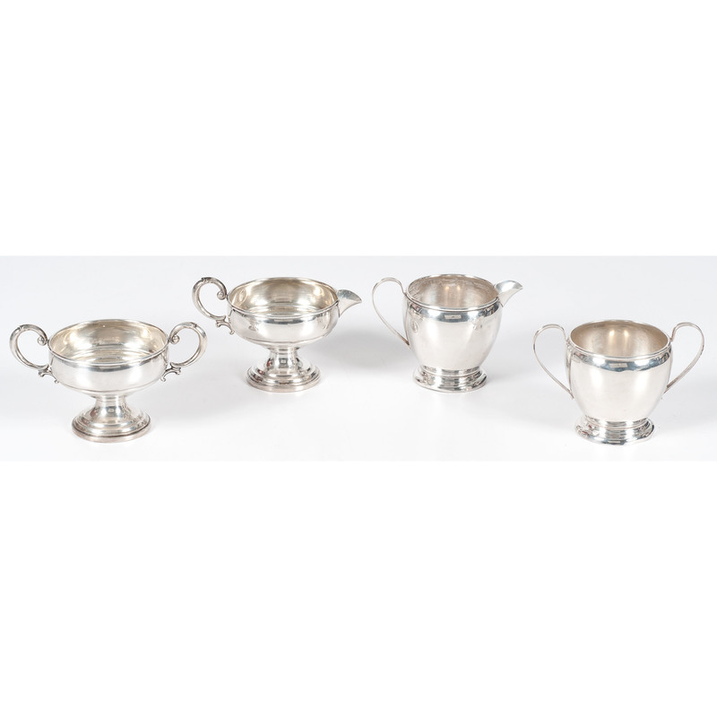 American Sterling Sugar and Creamer Sets