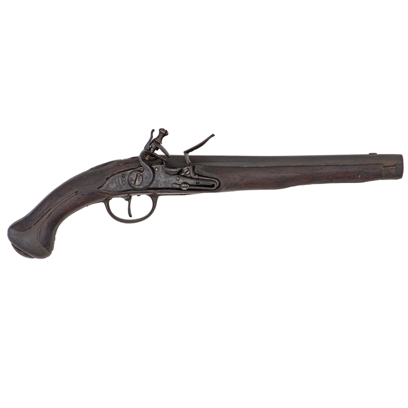 Early Flintlock Military Pistol