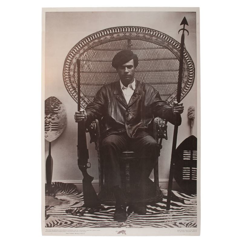 Rare Huey Newton Black Panther Party Poster
