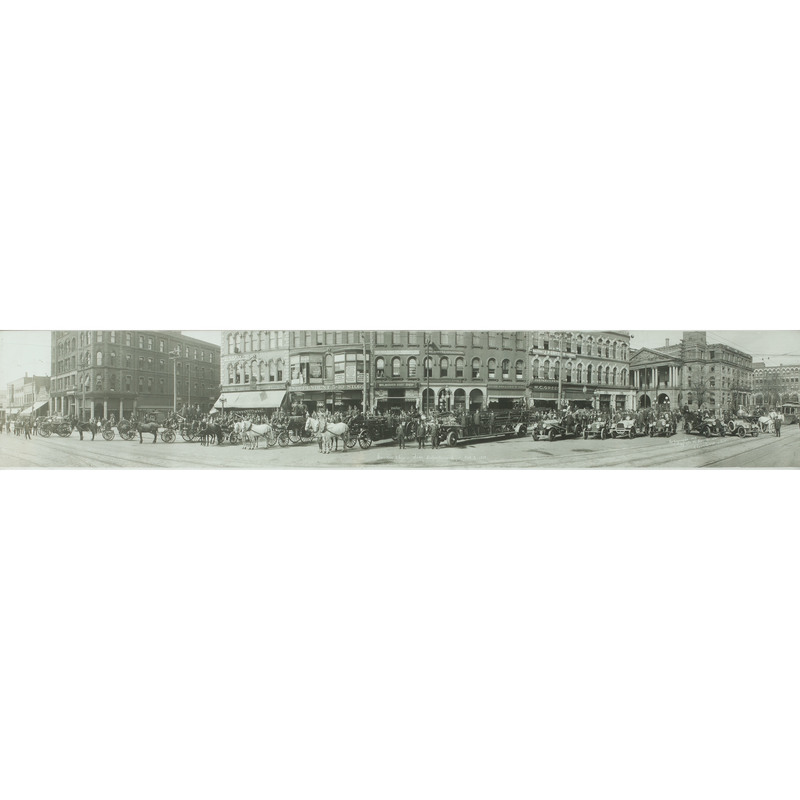 Canton, Ohio, Fire Department, Attractive Panoramic Photograph by the Miller Studio