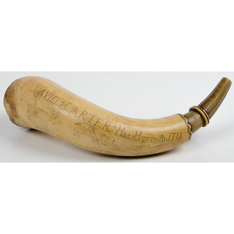 Engraved Powder Horn I'd to David Carter Dated 1778