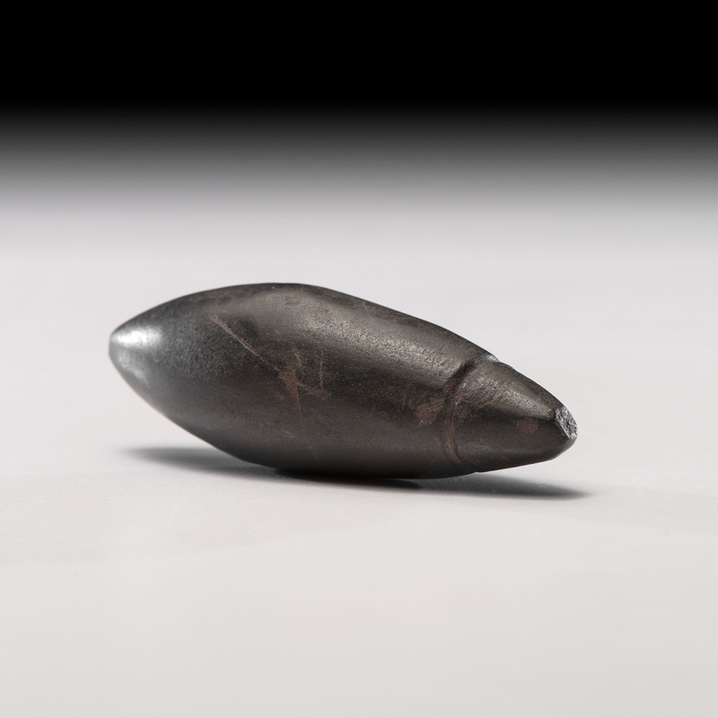 A Grooved Hematite Plummet,2-3/4 in.