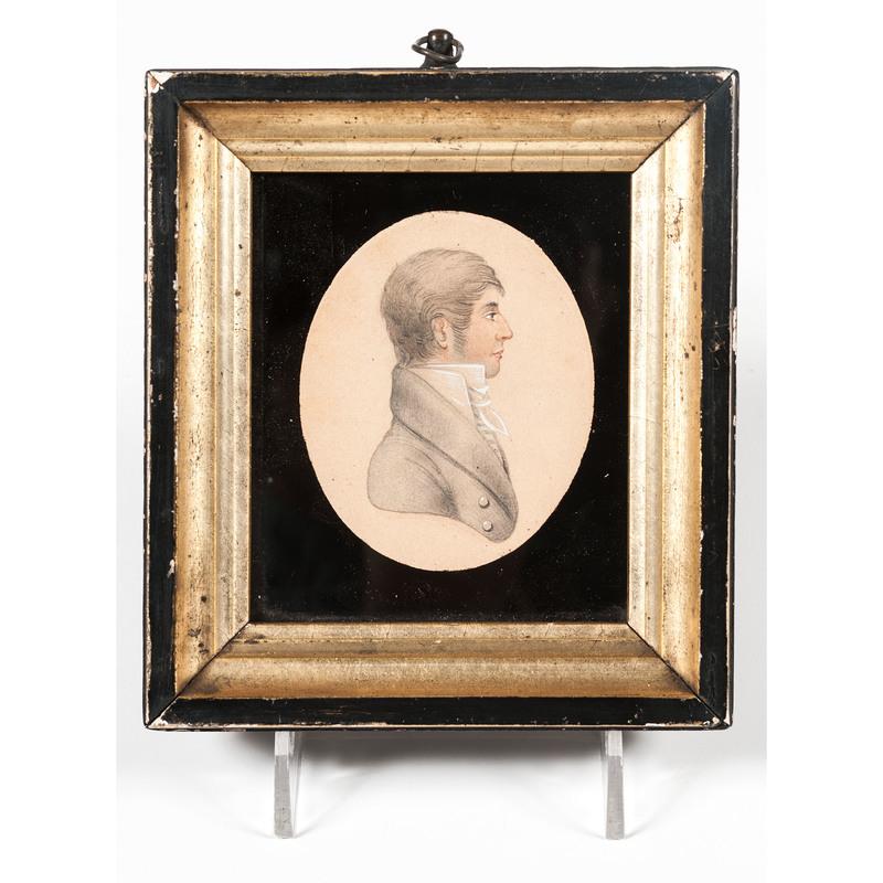 Portrait Miniature of Man on Paper