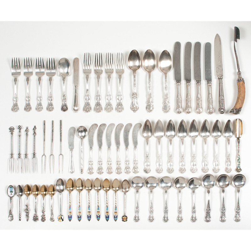 American and English Sterling Flatware, Plus