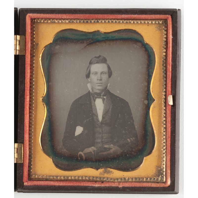 Sixth Plate Daguerreotype of a Clarinet Player