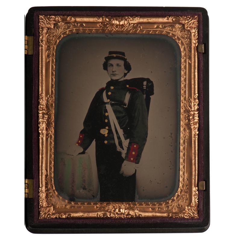 Quarter Plate Ambrotype of a New York Militiaman