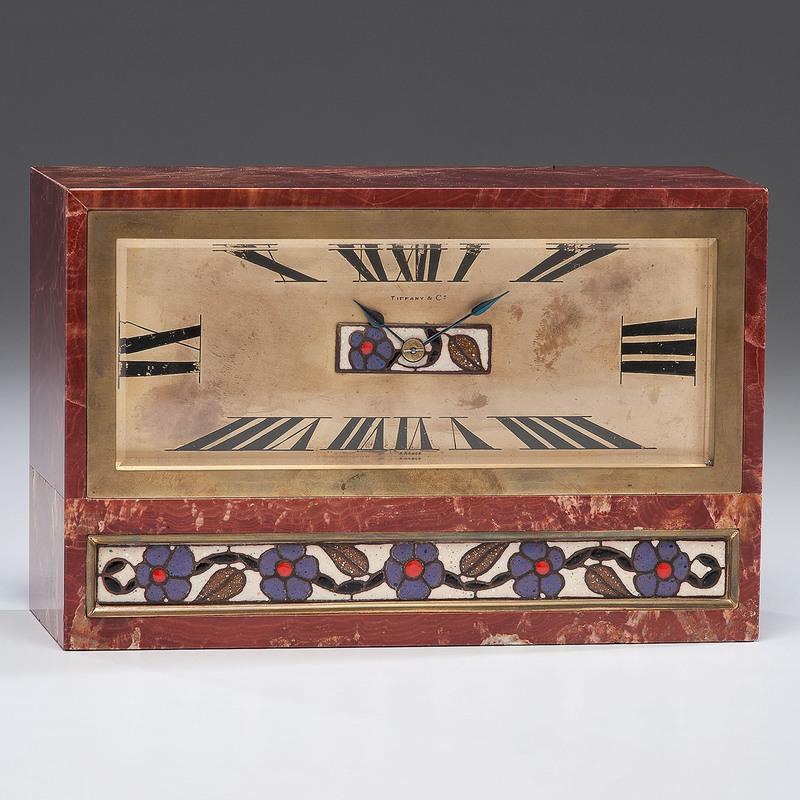 Tiffany-retailed Marble Art Deco Clock