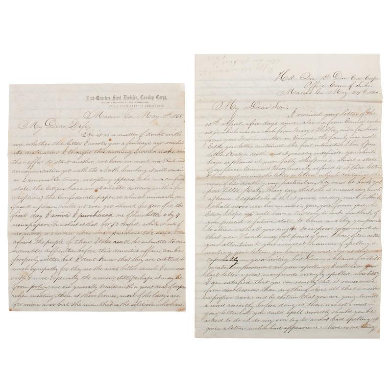 Two Civil War Letters Regarding the Capture of Jefferson Davis, by Captain Edward Dale, US Commissary Dept.