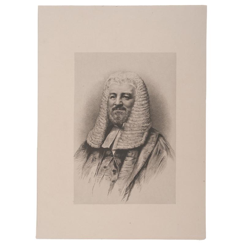 Judah P. Benjamin, Jewish US Senator and Confederate Politician, Bust Portrait as English Barrister