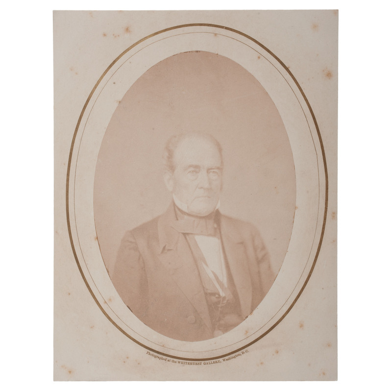 John Bell, Constitutional Union Party Candidate for President, Albumen Photograph by Whitehurst