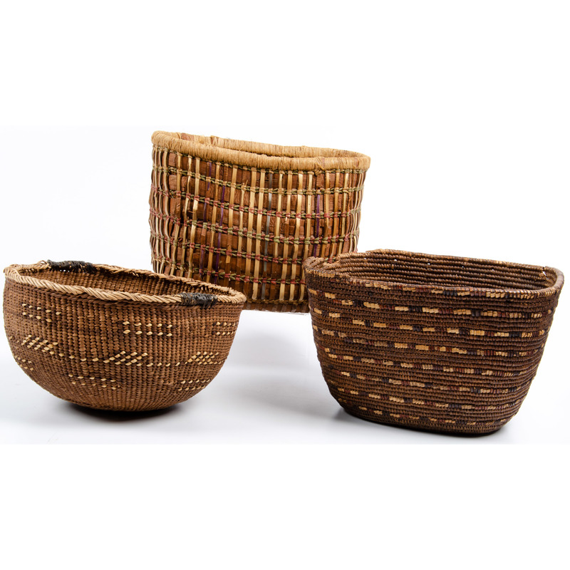 Thompson River, Makah, and Hupa Baskets