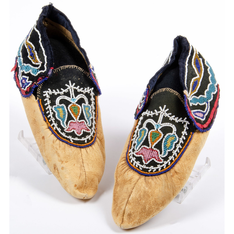 Anishinaabe Beaded Hide Moccasins