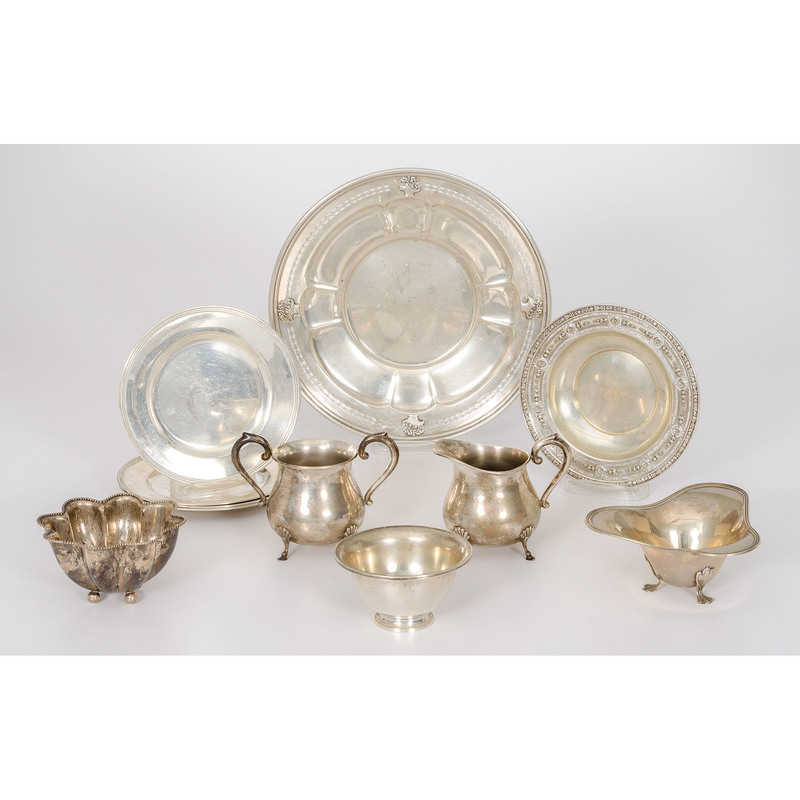 American Sterling Dishes and Hollow Ware