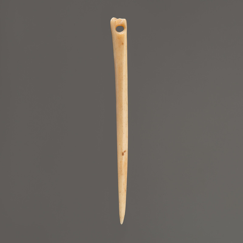 A Highly Polished Bone Needle, 4-1/2 in.