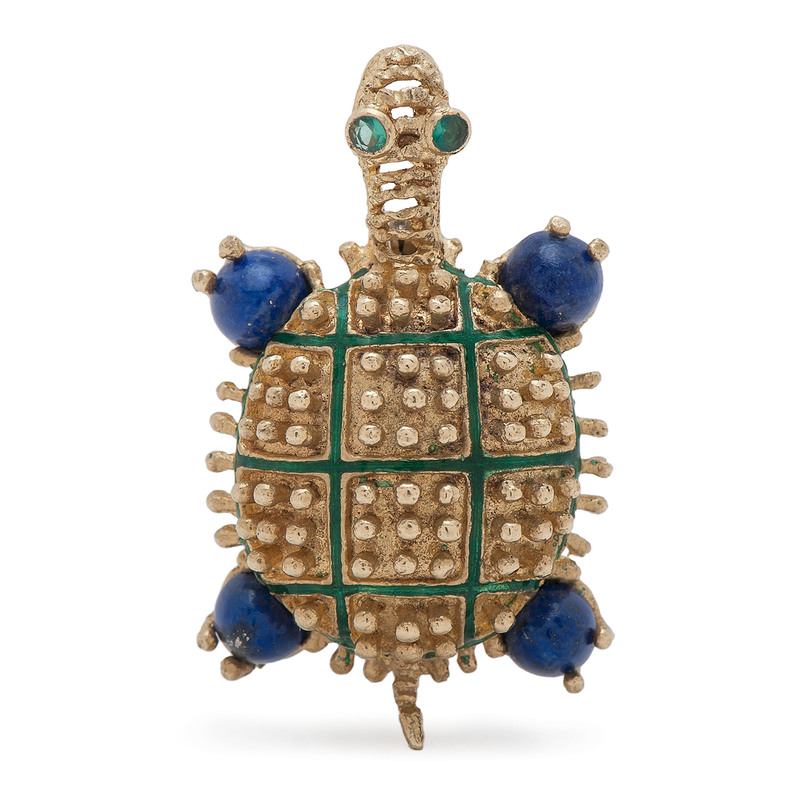 Hammerman Brothers 18 Karat Gold Turtle Brooch