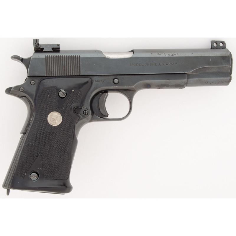 ** Colt 1911 Pistol Modified for Target Shooting