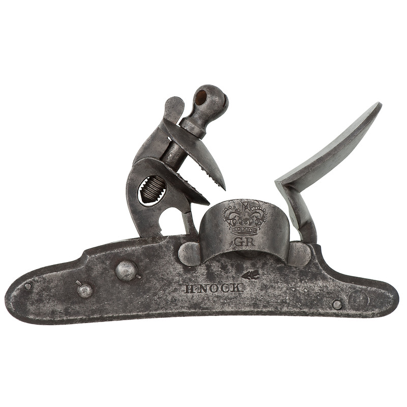 H. Nock British Military Screwless Musket or Carbine Lock
