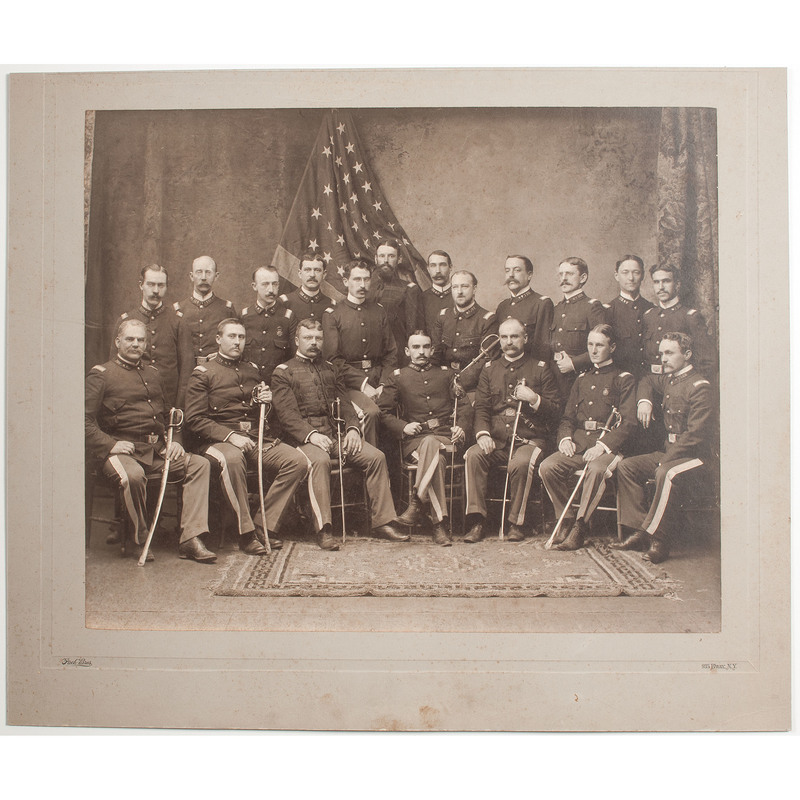Patriotic Pach Bros. Photograph of a Group of Military Officers