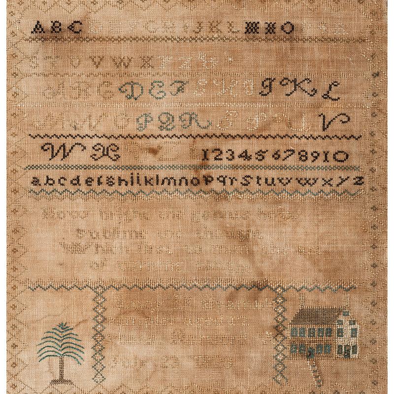 American Sampler, Dated 1823