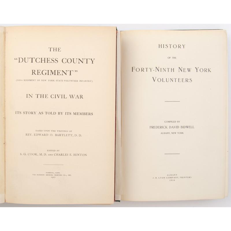 [Civil War Regimental History] Two New York Volunteer Infantry Histories, 49th and