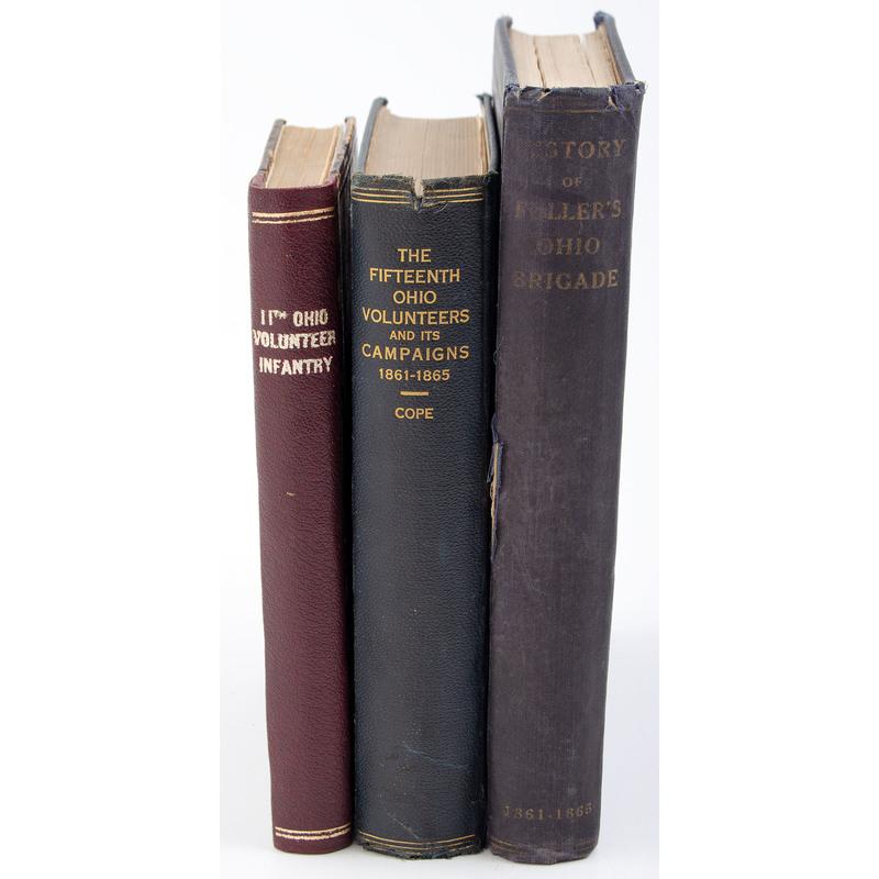 Civil War Regimental History, Group of Three Ohio Regimental Histories, 15th, 11th and