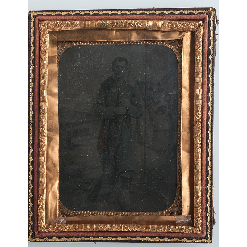 Civil War Quarter Tintype Identified to Orlo H. Jones, Co. D, 146th New York Infantry