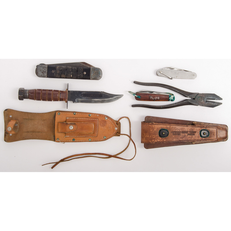 Military Knives Lot from the Estate of Art Gerber, Tell City, Indiana