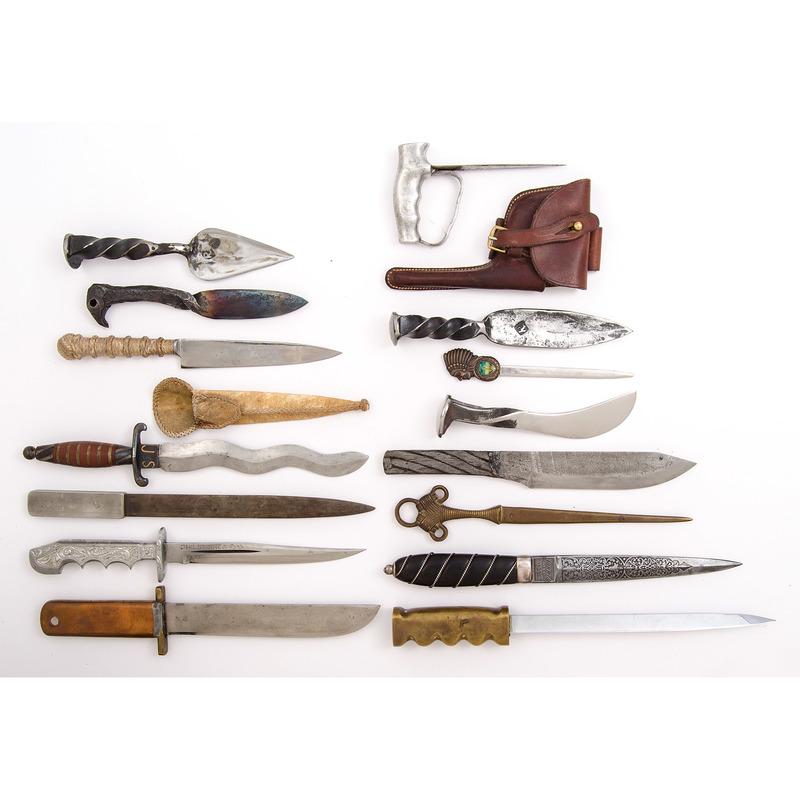 Assorted Fixed Blade Knives from the Estate of Art Gerber, Tell City, Indiana