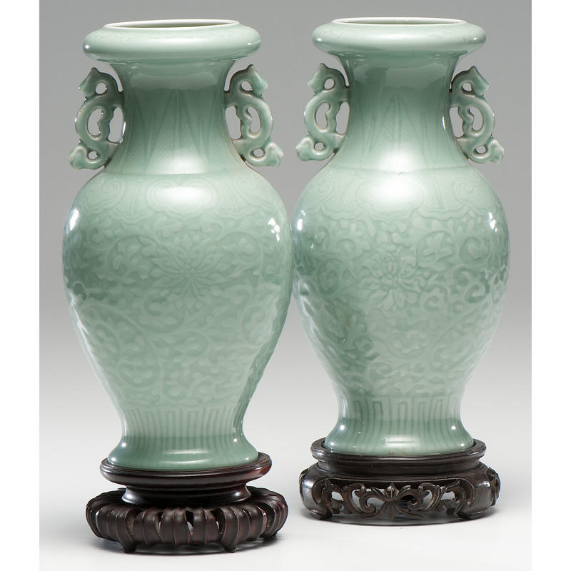 Chinese Celadon Vases