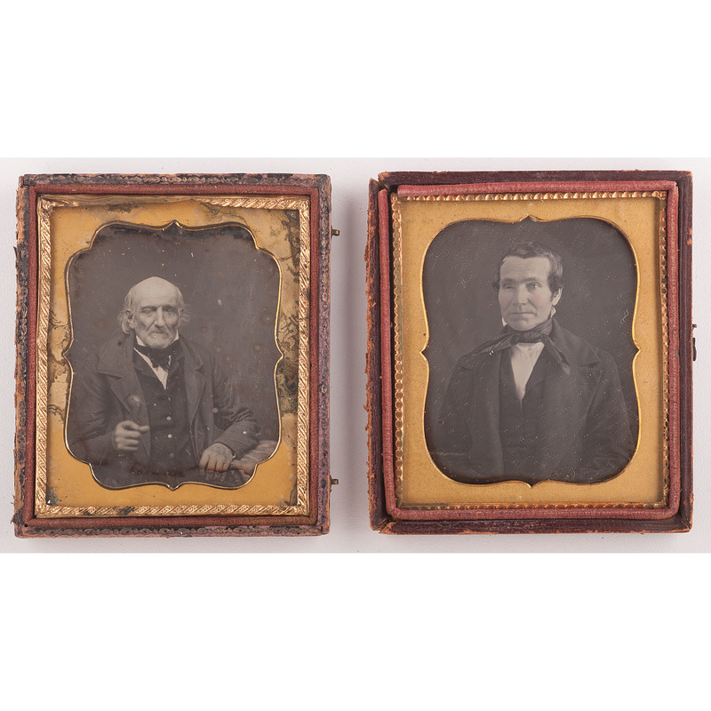 Sixth Plate Daguerreotypes of Blinded Men, Lot of 2