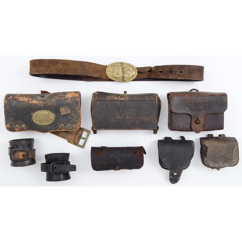 Indian War Era Leather Cartridge Boxes and Accoutrements