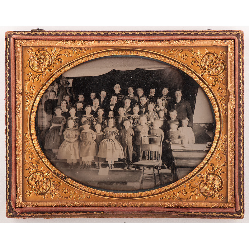 Half Plate Ambrotype of Teachers and Their Students