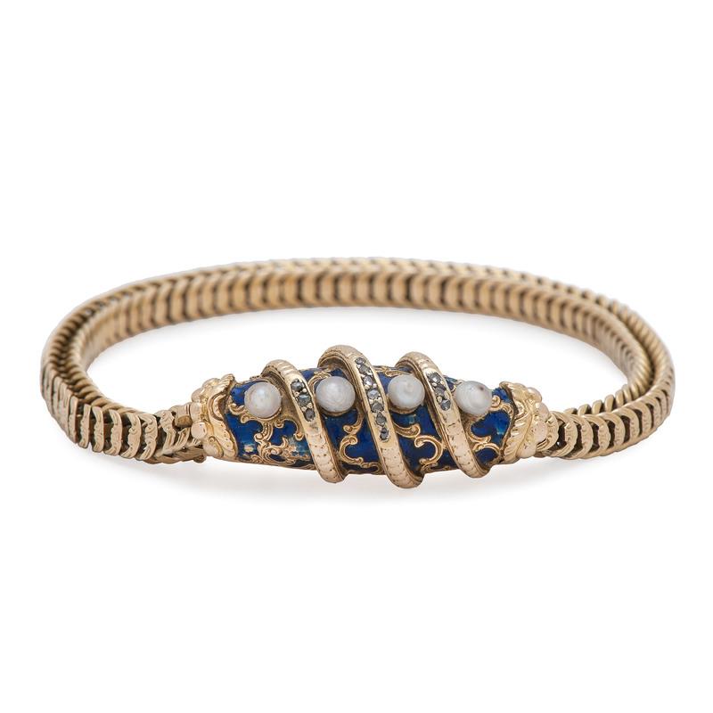 18 Karat Yellow Gold Victorian Bracelet