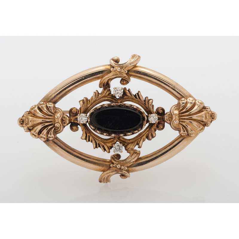 14 Karat Yellow Gold Victorian Revival Brooch