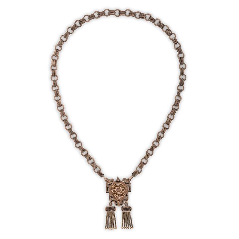 Karat Gold Victorian Fringe Necklace
