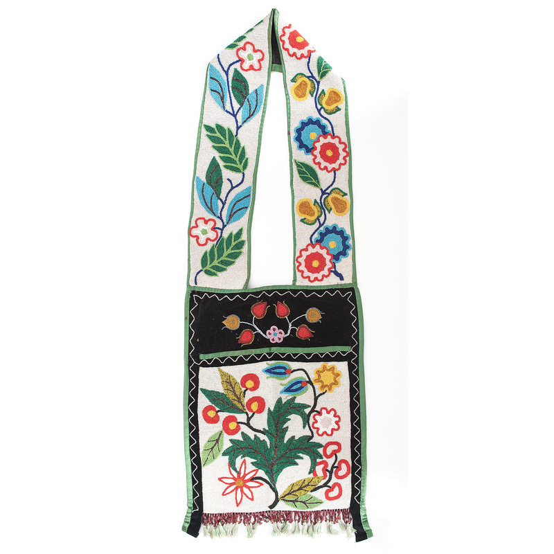 Anishinaabe Beaded Bandolier Bag