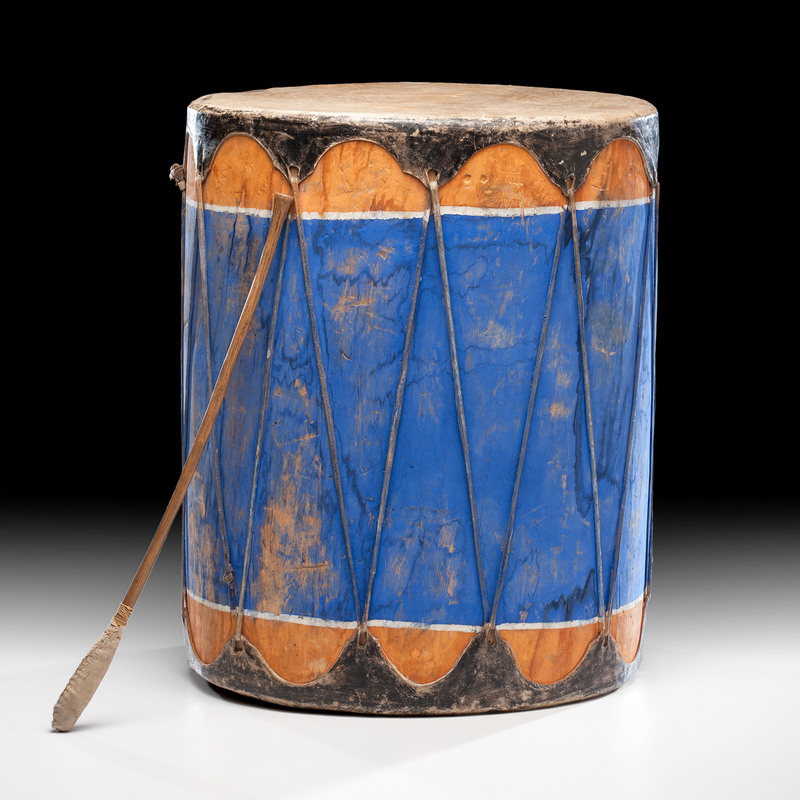 Vibrant Pueblo Drum