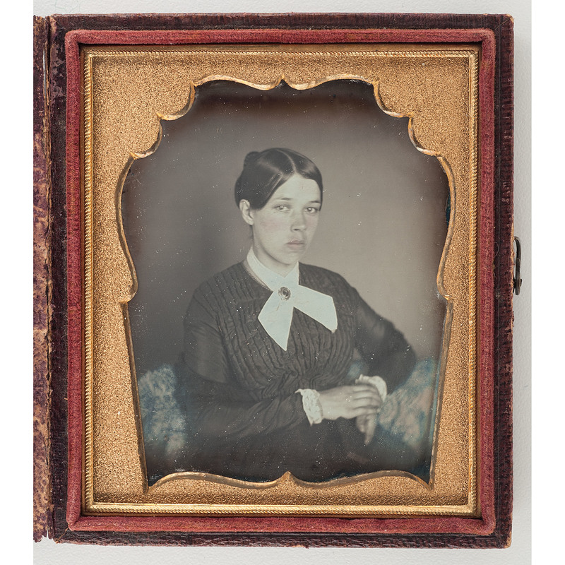 Charming Fine Sixth Plate Daguerreotype of a Young Woman with Unusual Mat