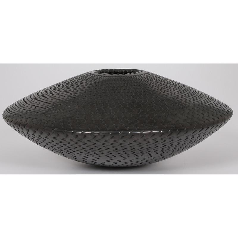 Reynaldo Quezada (Mata Ortiz, 20th century) Blackware Pottery Jar; From the Collection of Charles McNutt, Sr