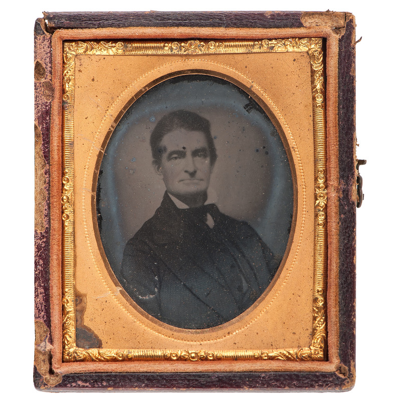 Ninth Plate Ambrotype of Abolitionist John Brown