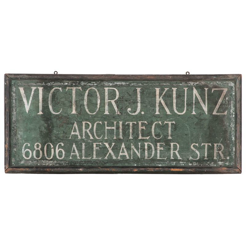 St. Louis Architects's Trade Sign