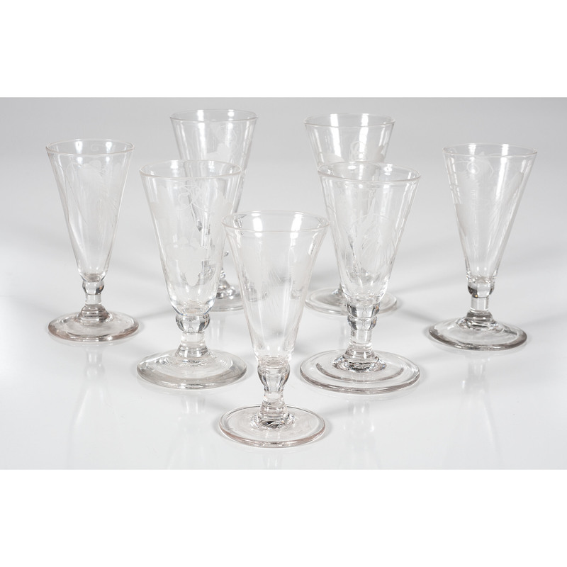 English Engraved Ale Glasses
