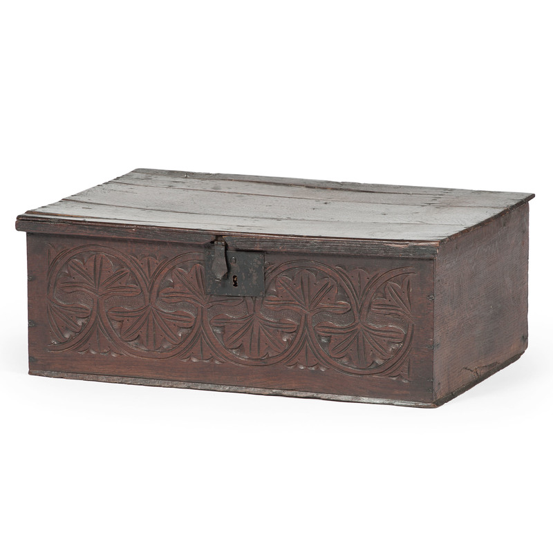 William and Mary Carved Bible Box