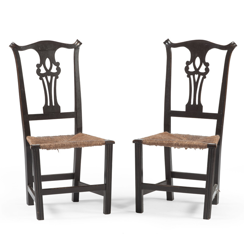 American Country Chippendale Chairs