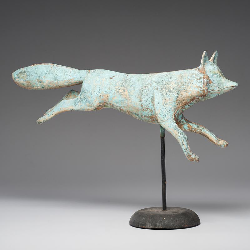 Copper Running Fox Weathervane