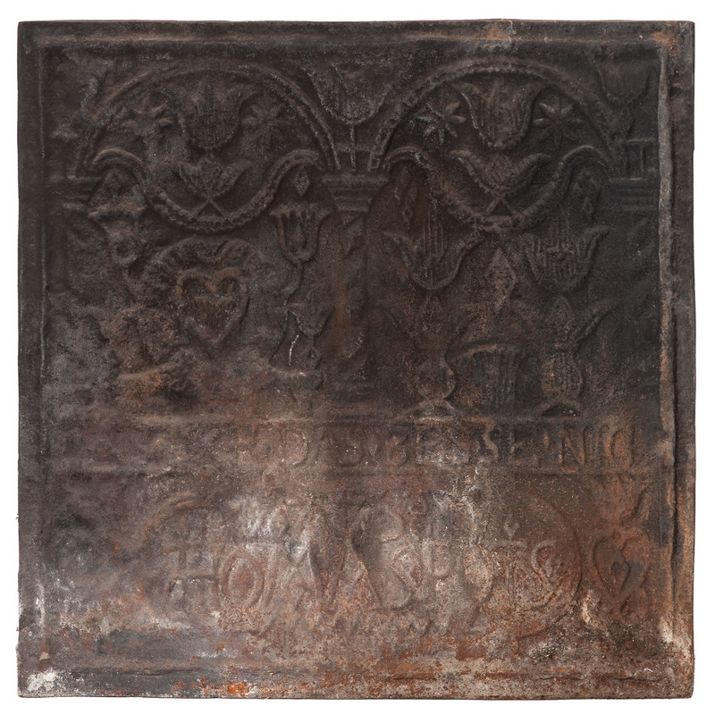 Pennsylvania Cast Iron Stove Plate, Thomas Potts
